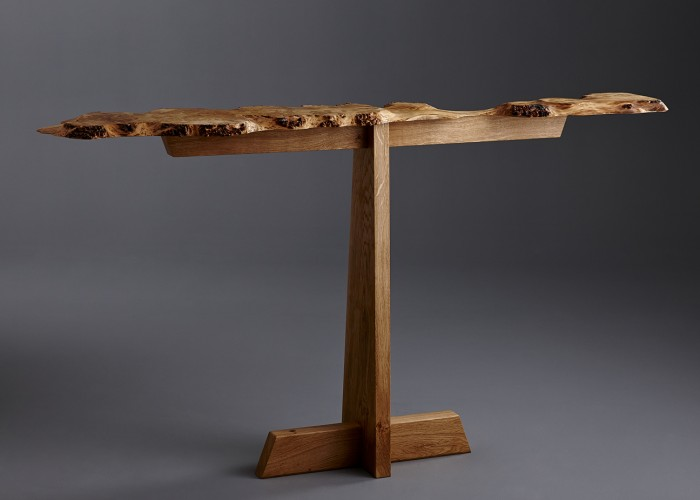 Simple design to show off burr oak top to its best.