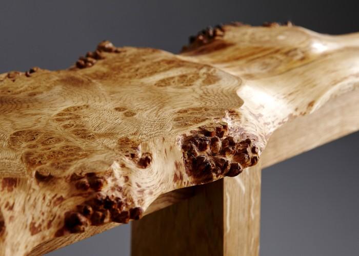 Burr Oak close up. Locally sourced and handmade.