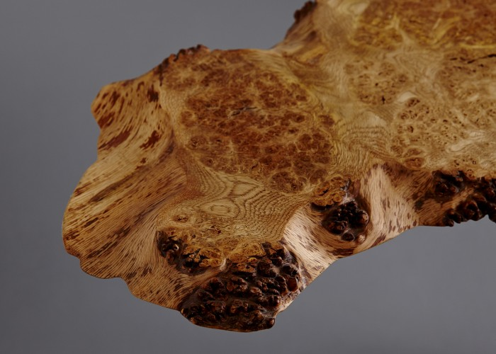 Natural waney edge all the way round. Beautiful local burr Oak.